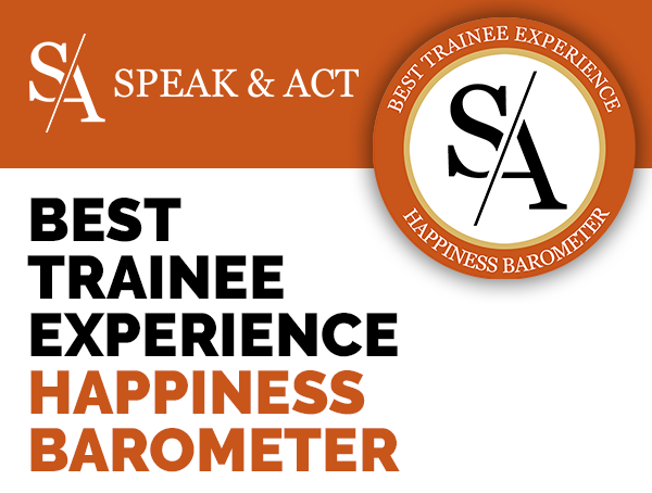 label TRAINEE happyness barometer